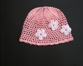 crochet hat,baby hat, summer hat, MADE TO ORDER in your size and color request.