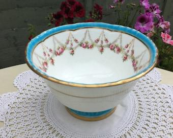 Cauldon fine bone china vintage sugar bowl, possibly early 1900s.