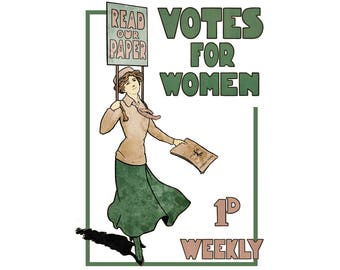 T-SHIRT: Votes For Women - Classic T-Shirt & Ladies Fitted Tee - (LazyCarrot)