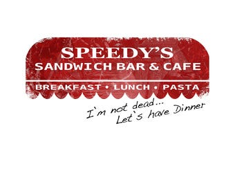 T-SHIRT: Sherlock / Speedys Sandwich Bar - Classic T-Shirt & Ladies Fitted Tee - (LazyCarrot)