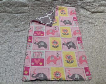 Girl elephant dream big burp cloth