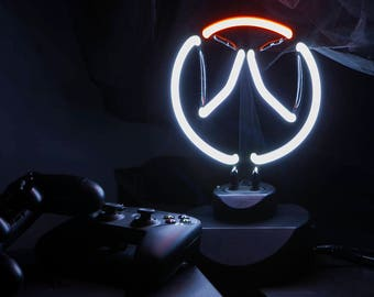 Overwatch Neon Light – Logo  Gaming Decor. Blizzard Fanfare + Videogame gift / geeky gift