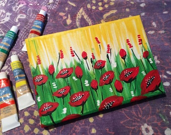 Red Field Poppies