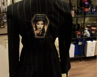 Suxsie And The Banshees Inspired Customised Lady's Size 12 Pinstripe fittided Jacket