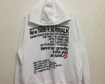 Vintage 90's Airwalk Hoodies Sweatshirts Size XL