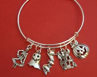Halloween Themed Charm Bracelet