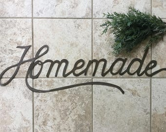 """Magnolia Style """"Homemade"""" Metal Sign"""