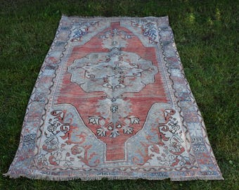 Free Shipping turkish rug 3.9 x 6.9 feet rare anatolian organic vintage rug bohemian decor rug area rug aztec rug tribal rug DC800