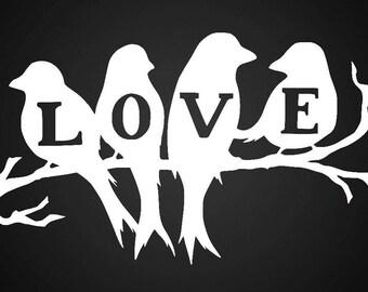 Love Birds Vinyl Decal