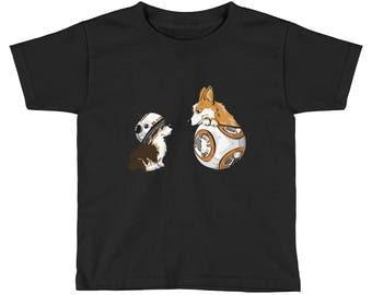 Corgis and BB8 Kids Short Sleeve T-Shirt