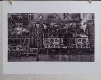 In Stock Ready To Ship 17x22 Redondo Beach Power Plant Photography