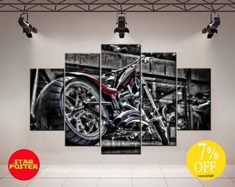 motorcycle decor etsy. Black Bedroom Furniture Sets. Home Design Ideas