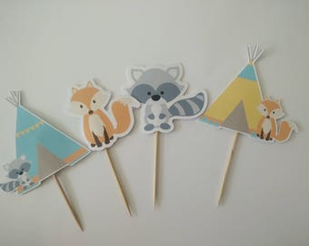 Food Toppers Cupcake Toppers