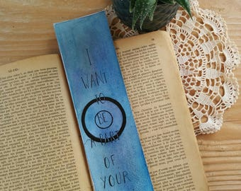 "Bookmark is hand ""Teen Wolf - I want to be apart of your pack"" Collection ""Sérievore"" Bookmark Art drawing print"
