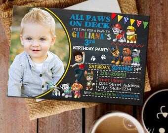Paw patrol Paw patrol Invitation Paw patrol Party Paw patrol Birthday Invitation Paw patrol Invitations Paw patrol Birthday Paw patrol