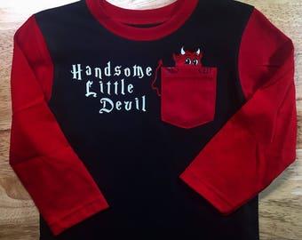 Handsome Little Devil Valentine Toddler LS Tee