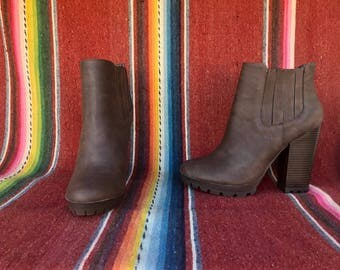 SOLD!!!!! Brand New Candies Brown High Heel Ankle Boot, Size 9.5