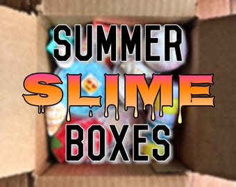 Summer slime boxes