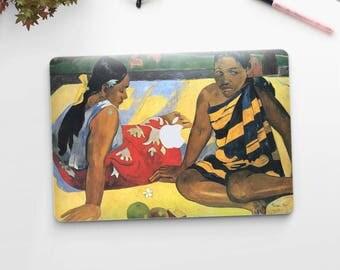 """Paul Gauguin, """"What's New?"""". Macbook Pro 15 skin, Macbook Pro 13 skin, Macbook 12 skin. Macbook Pro skin. Macbook Air skin."""