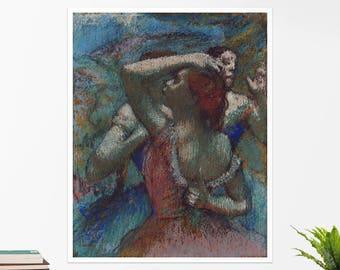 """Edgar Degas, """"Dancers"""". Art poster, art print, rolled canvas, art canvas, wall art, wall decor"""