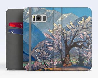 "Nicholas Roerich, ""Krishna (Spring in Kulu)"". Samsung Galaxy S8 Wallet case. Samsung S7 wallet case. Samsung S6 wallet case. iPhone Wallet"