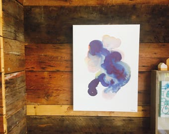 Abstraction 001 watercolor original artwork on canvas