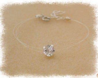 Nylon Transparent & Swarovski Elements Crystal bracelet