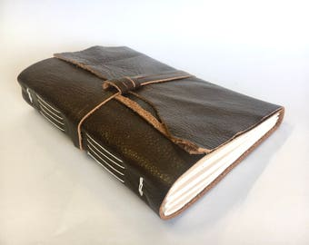 Up-Cycled Leather Journal Notebook Sketchbook