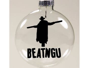 Jeepers Creepers Beatngu Christmas Ornament Glass Disc Holiday Horror Merch Massacre