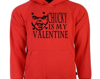 Child's Play Chucky Bride Seed Curse Cult Unisex Hoodie Pullover Hooded Sweatshirt Many Sizes Colors Custom Horror Halloween Merch Massacre