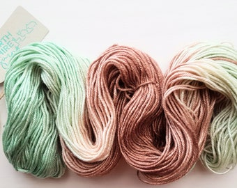 Mmm...Vienetta...Mint! Hand dyed SW BFL / Silk DK yarn