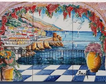 Amalfi Terrace Landscape Mural Tiles