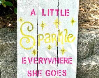 Sparkle Pallet Sign