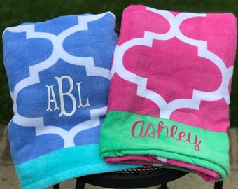 Monogrammed Beach Towel, Personalized Beach Towel, Bridesmaid Gift, Beach Towel, Monogrammed Pool Towel,Monogrammed Gifts,Personalized Gifts
