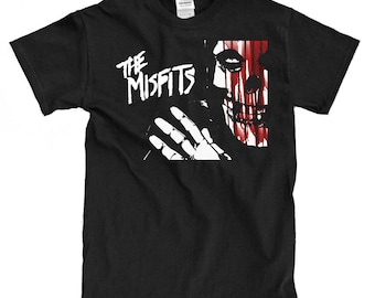 The Misfits Bloody Skull Black T-shirt