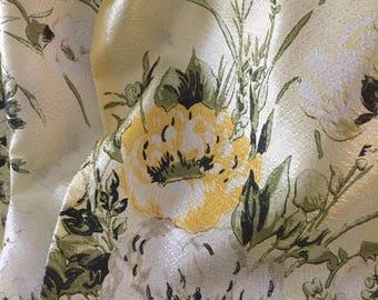 1960's floral vintage/retro curtains/Caravan/Camper Van x 3 pieces