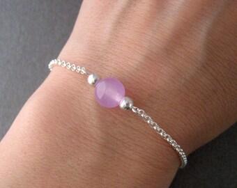 Pearl bracelet, jade and Silver 925/1000
