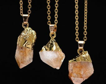 Citrine Necklace,Citrine Pendant,Citrine Jewelry,Yellow Necklace,Yellow Jewelry,Yellow Crystal Necklace,Yellow Crystal Jewelry