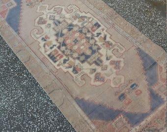 "Vintage Oushak Rug, Turkish Rug,3'3""x6'9""feet, Area Rug, Handmade Wool Rug, Turkish Carpet, Rugs, Home living,Rug"