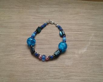 Beaded bracelet - water