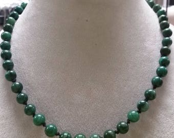 Hand Knotted Jade Necklace