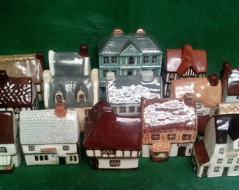 Lot of 15 Around the Corner Miniature Houses for Hollywood