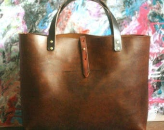 Leather Tote bag custom leather bag everyday bag