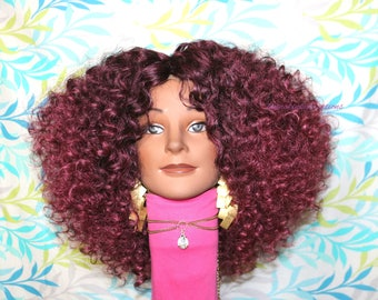 "READY TO SHIP //Synthetic crochet wig ""Seductive Tendrils of color 530"""