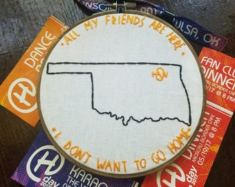 I don't want to go home Hanson Day embroidery