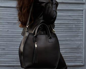 Cow leather handbag