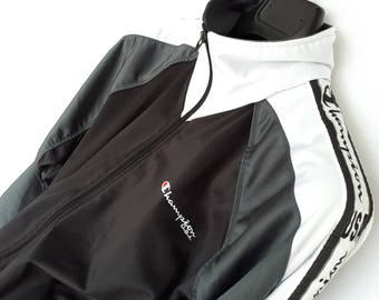 Jacket CHAMPION 90's black and white M
