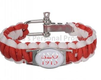Delta Sigma Theta Sorority Paracord Bracelet