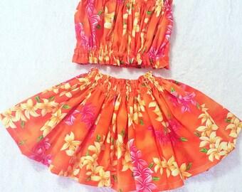 kids hula skirt, girls hula outfit, baby / toddler moana luau outfit, kids , 2 piece set hula dress,kids clothes, girls clothing