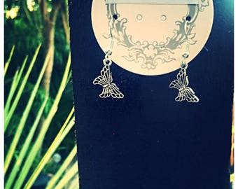 Elegant Butterfly Earrings With 925 Silver Hooks. Gift Bag Packaged.